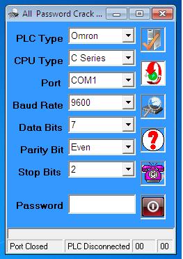 Phần Mềm Crack Password  C Series 1 PLC Omron