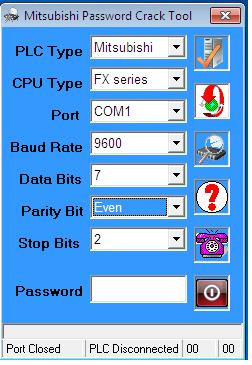 Phần Mềm Crack Password FX Series PLC Mitsubishi