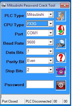 Phần Mềm Crack Password FX3G PLC Mitsubishi