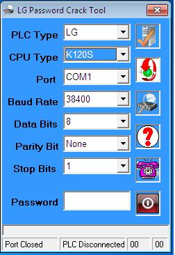 Phần Mềm Crack Password Master-K120S PLC LG-LS