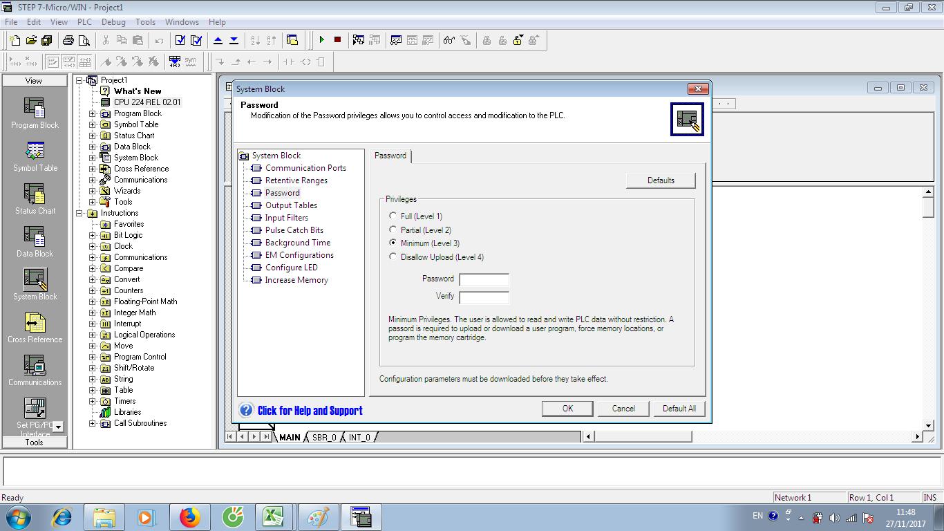 Crack Password S7-200 V02.01 Level 3 PLC Siemens