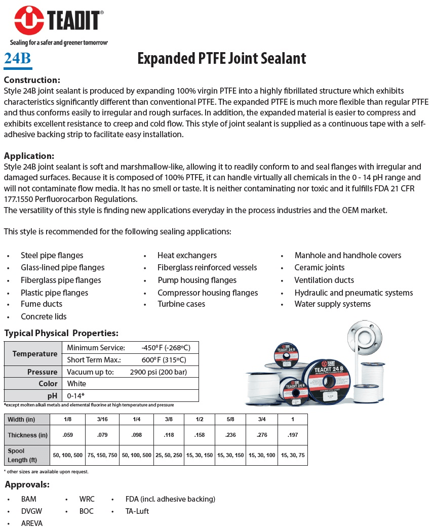 TEADIT Expanded PTFE Joint Sealant 24B