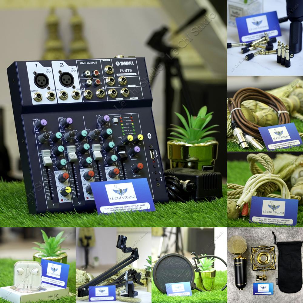 Combo Mic thu âm Takstar PC K820 + Mixer F4 Full phụ kiện - Giá 3.790k