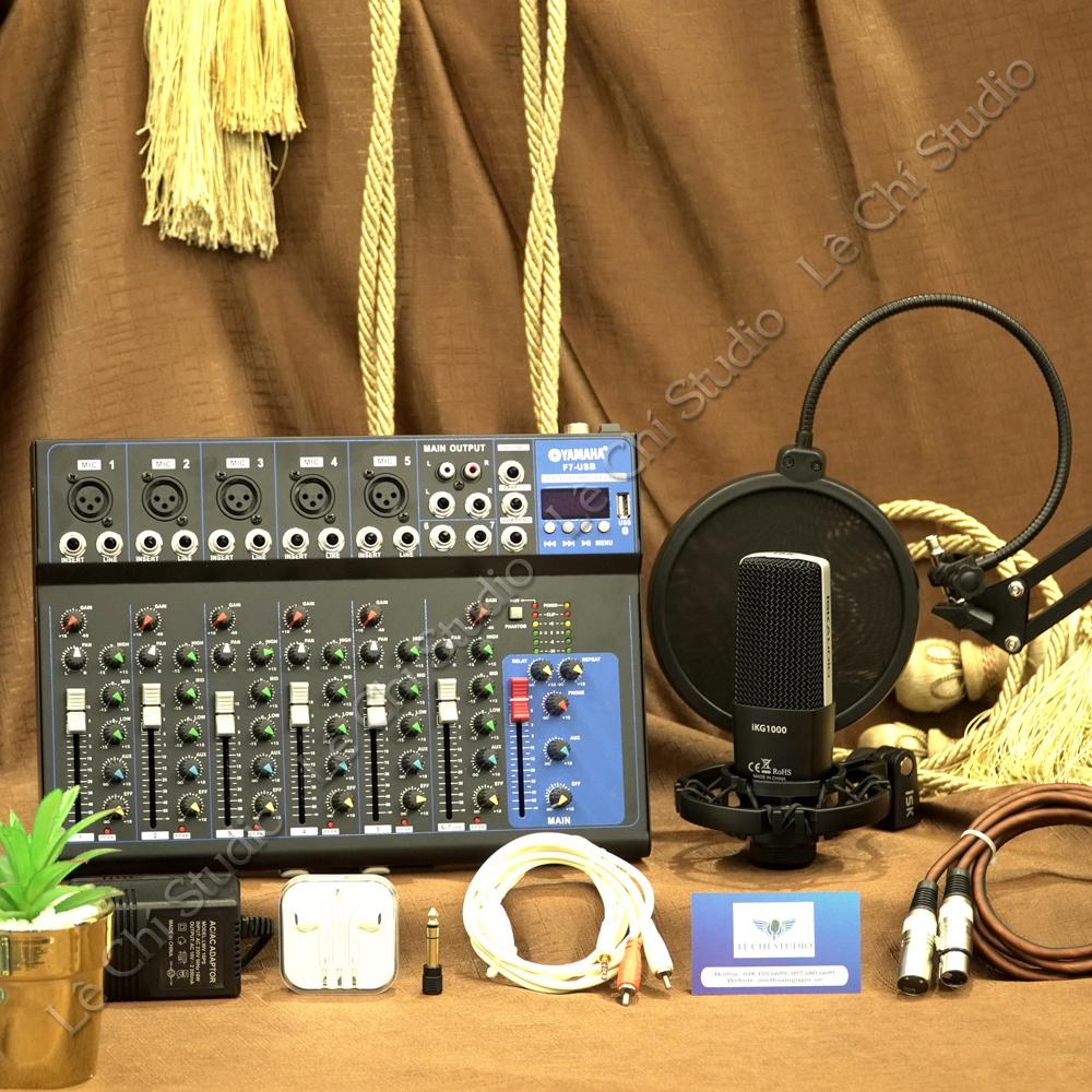 Combo Mic thu âm ISK IKG1000 + Mixer F7 Full phụ kiện - Giá 3.290k