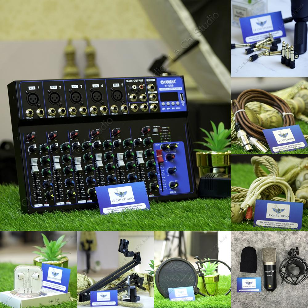 Combo Mic thu âm Takstar PC K500 + Mixer F7 Full phụ kiện - Giá 2.590k