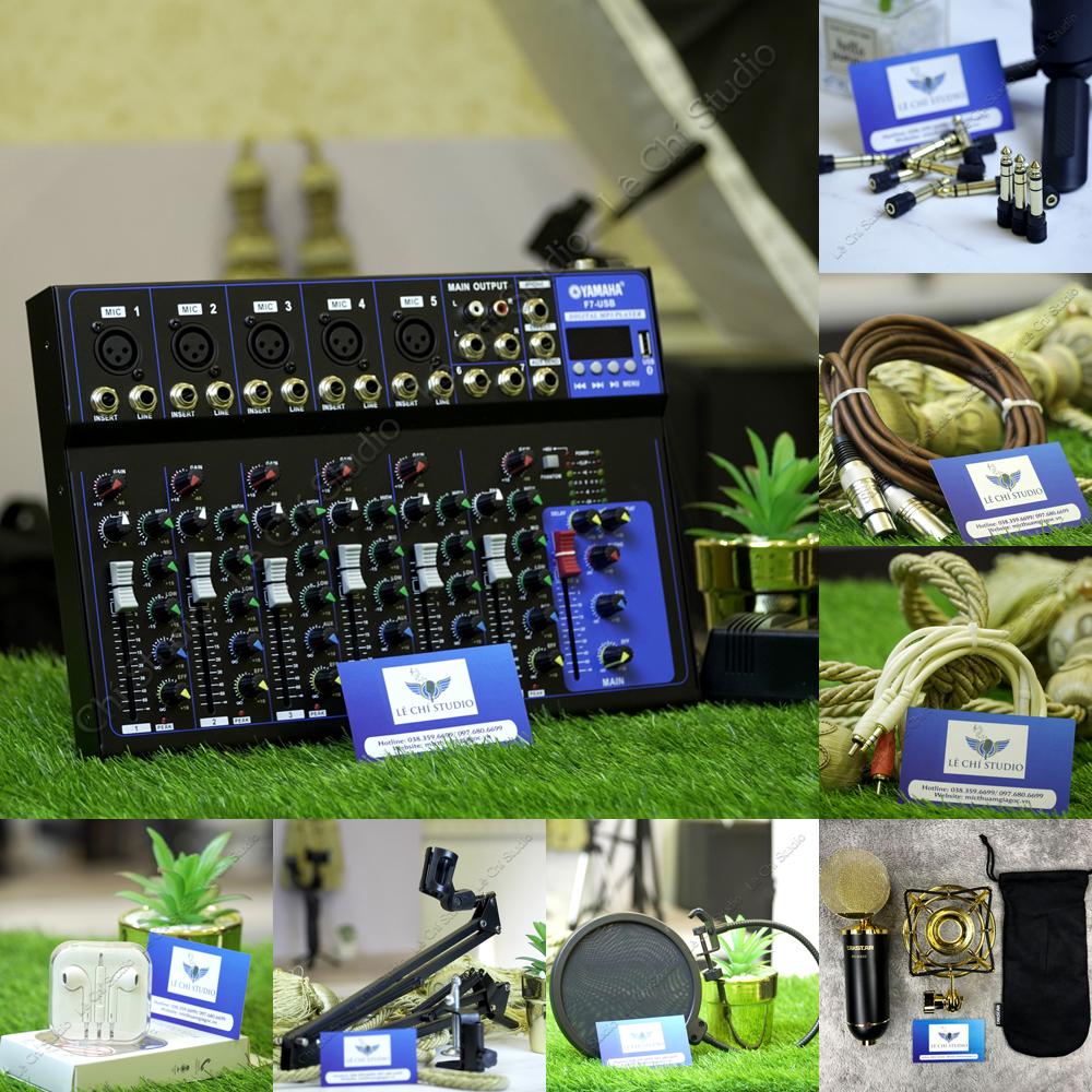 Combo Mic thu âm Takstar PC K820 + Mixer F7 Full phụ kiện - Giá 4.090k