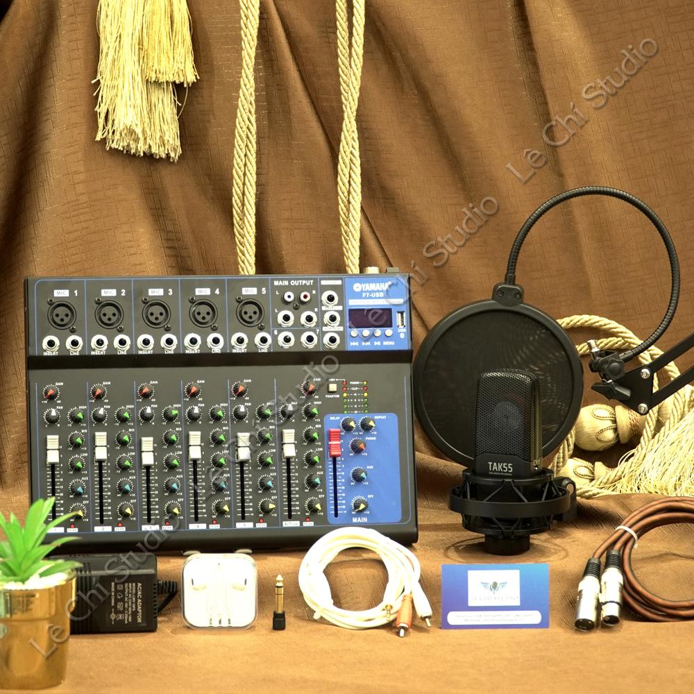 Combo Mic thu âm Takstar TAK55 + Mixer F7 Full phụ kiện - Giá 4.890k