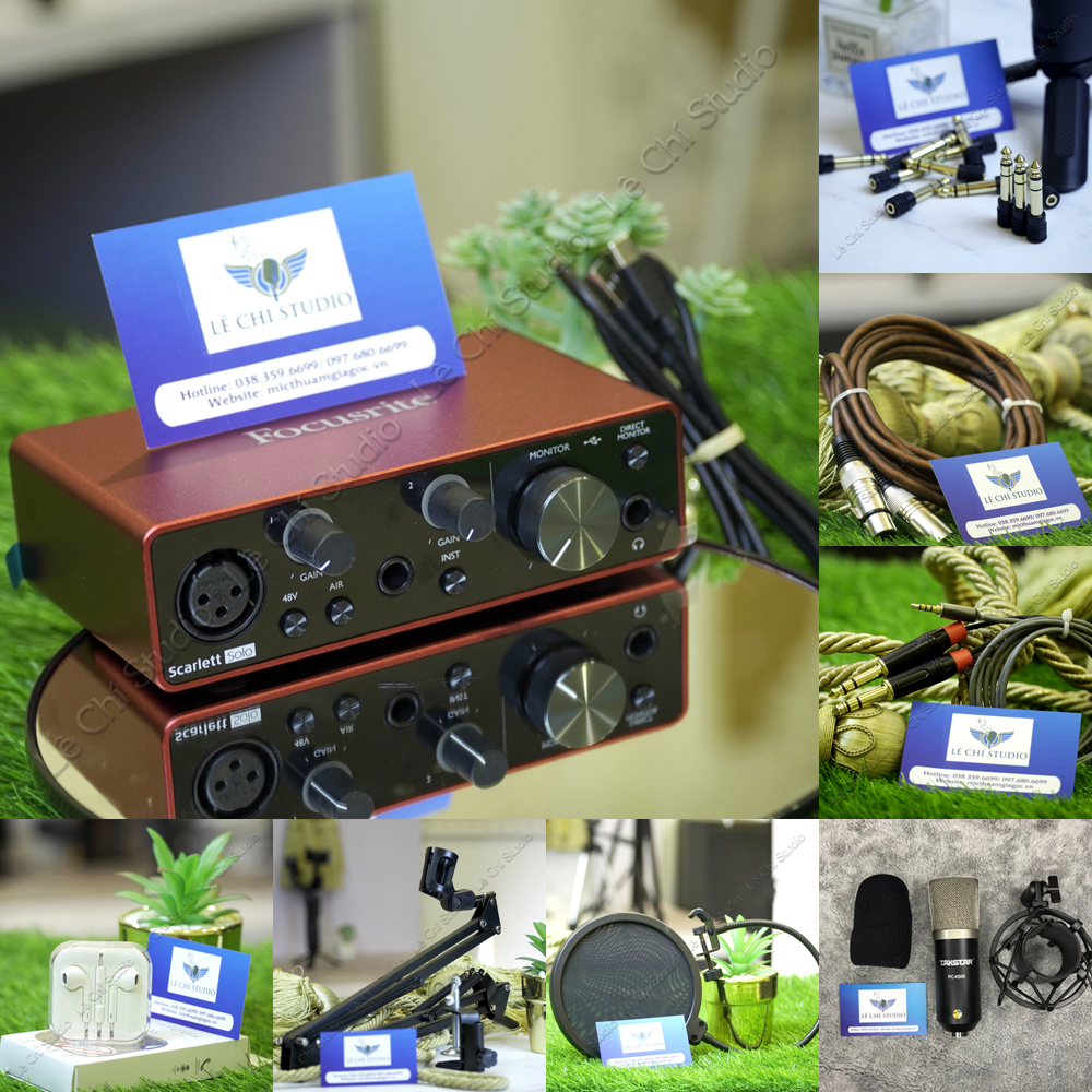 Combo Micro Takstar K500+ Soundcard Focusrite Solo Gen3 Full Phụ Kiện - Giá 4.190K