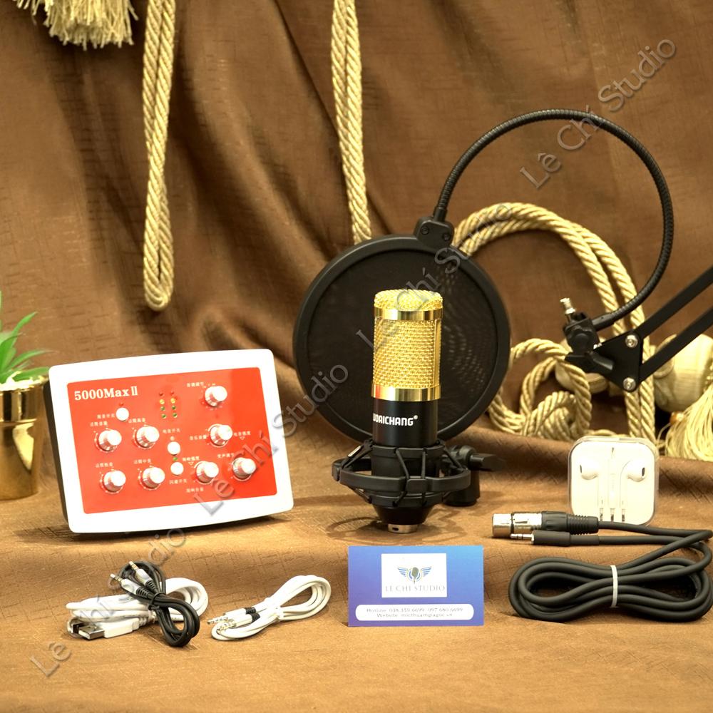 Combo Mic thu âm Bm900 + Soundcard HF5000 Full Phụ Kiện - Giá 1.990K