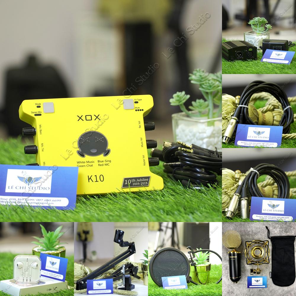 Combo Micro Thu Âm Takstar PC K820 + Soundcard XOX K10 2020Full Phụ Kiện - Giá 4.090k