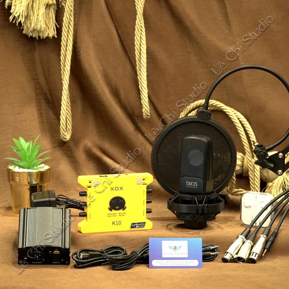 Combo Micro Thu Âm Takstar TAK35 + Soundcard XOX K10 2020Full Phụ Kiện - Giá 3.190k