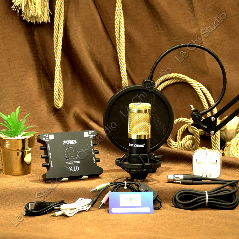 Combo Micro Thu Âm BM900 + Sound Card XOX K10 Full Phụ Kiện - Giá 1.390K