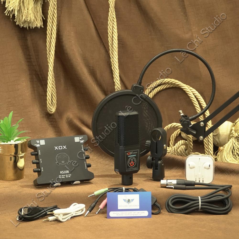 Combo Micro Thu Âm ALC280 + Soundcard XOX KS108 Full Phụ Kiện - Giá 1.590K