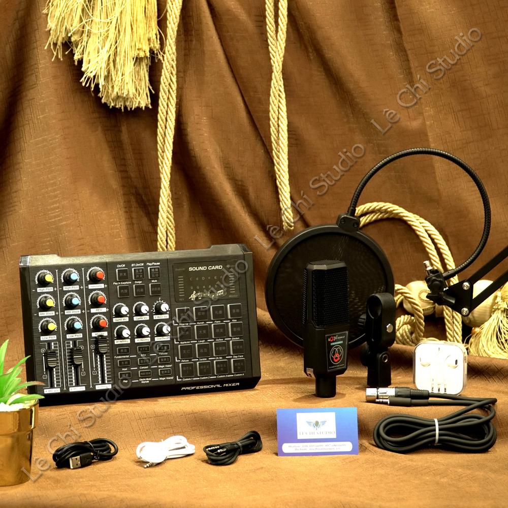 Combo Micro Thu Âm ALC280 + Soundcard S8 Full Phụ Kiện - Giá 1.290K