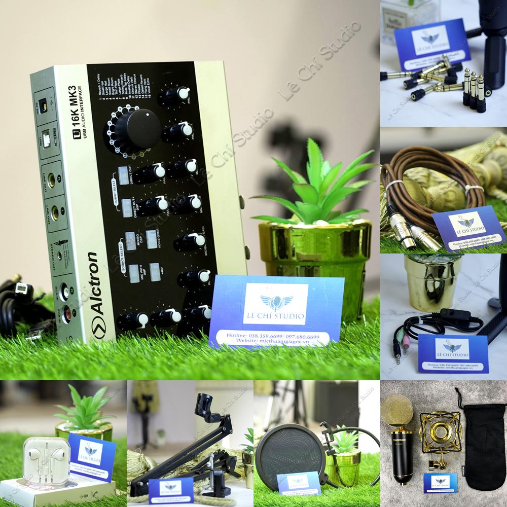 Combo Micro Thu Âm Takstar PC K820 + Soundcard U16K MK3 Full Phụ Kiện - Giá 5.490K