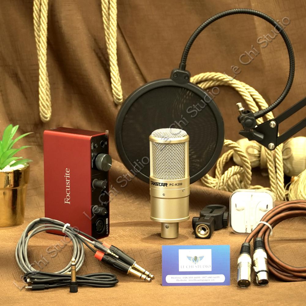 Combo Micro Takstar K200+ Soundcard Focusrite Solo Gen3 Full Phụ Kiện - Giá 3.890K