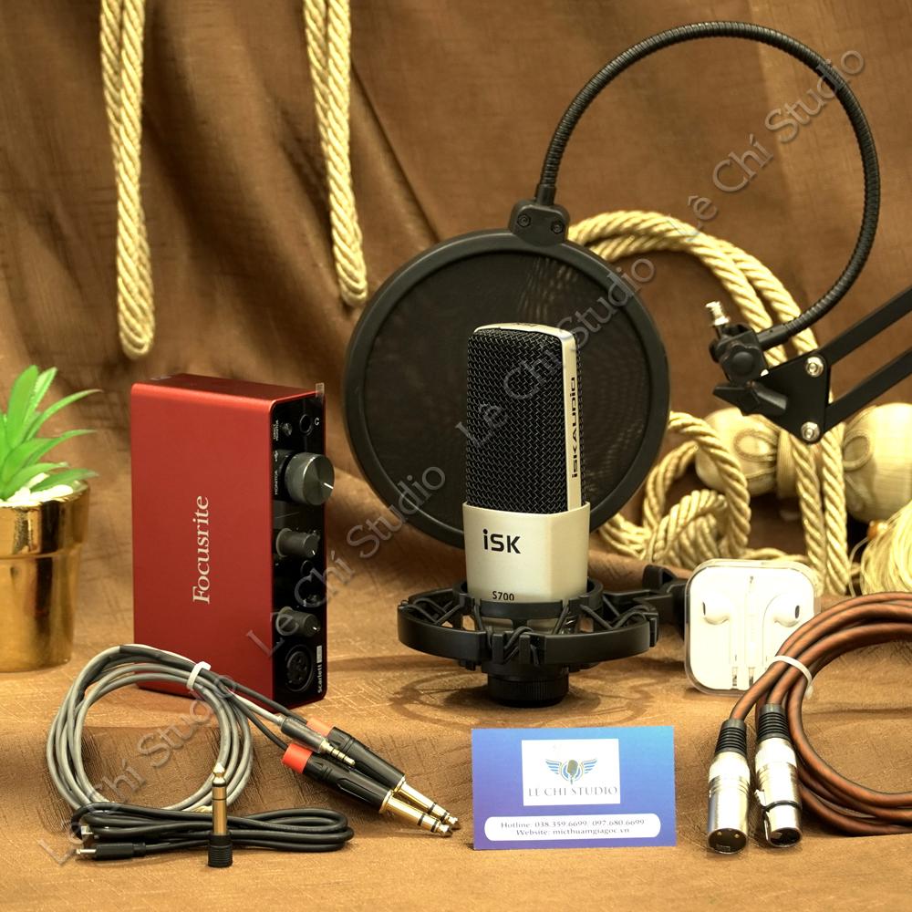 Combo Micro ISK S700+ Soundcard Focusrite Solo Gen3 Full Phụ Kiện - Giá 4.390K