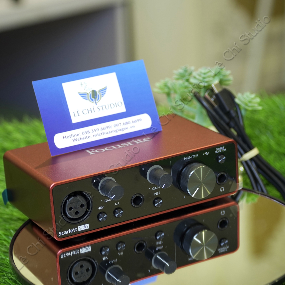 Soundcard Focusrite Scarlett Solo Gen3 - Giá 2.750k