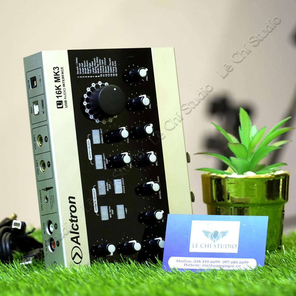 Soundcard Alctron U16K MK3 - Giá 2.590k