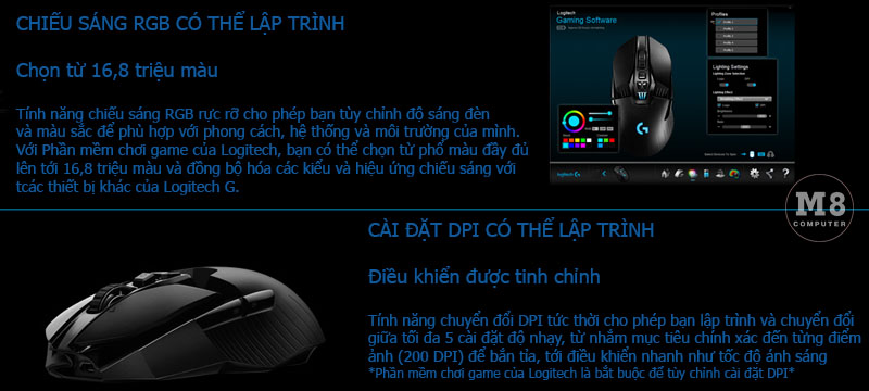 Chuột Logitech G903 Lightspeed Wireless Gaming 10