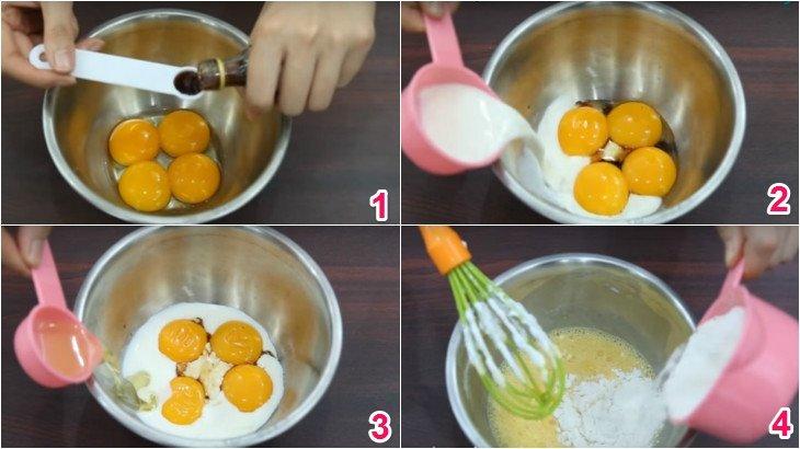 Cách làm bánh bông lan cực dễ bằng nồi cơm điện