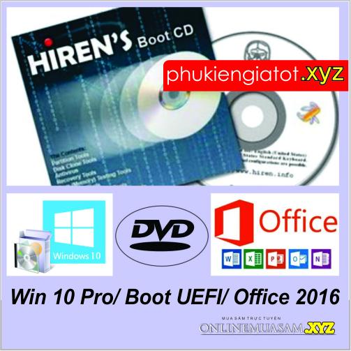 Bộ DVD Cứu hộ + WIN 10 Pro 64bit + Office2016