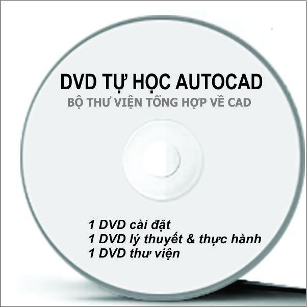 Bộ DVD Autocad 2019 Full ( Bộ cài + Giáo Trình + Thư Viện CAD)