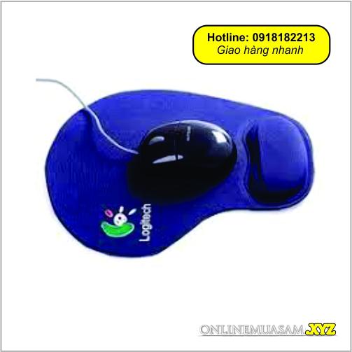 Miếng lót chuột nâng đỡ cổ tay, ngừa chai tay mouse pad Logitech