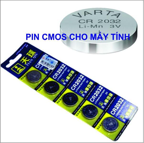 Pin Cmos Lithium CR2032 3V chính hãng chất lượng (5V/Vỉ)