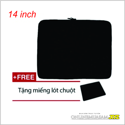 Túi chống sốc cho laptop 14 inch + Tặng bàn di chuột