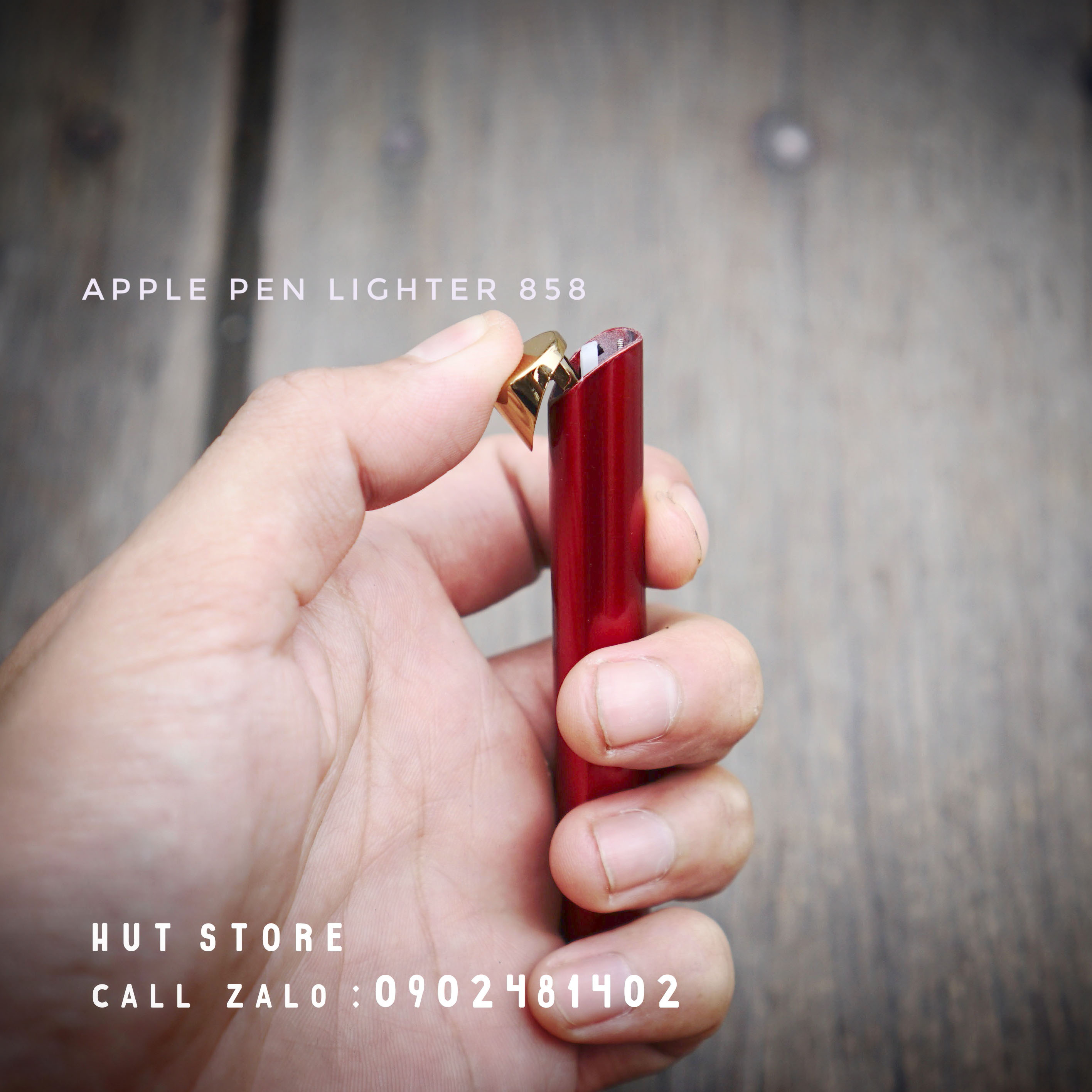 Bật lửa gas Apple Pen 858