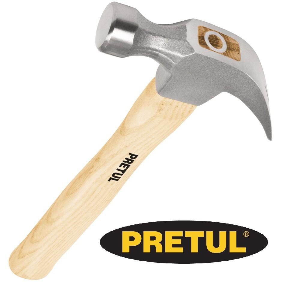 BÚA NHỔ ĐINH 16oz/450g,CÁN GỖ PRETUL - 22290 (MP-16)