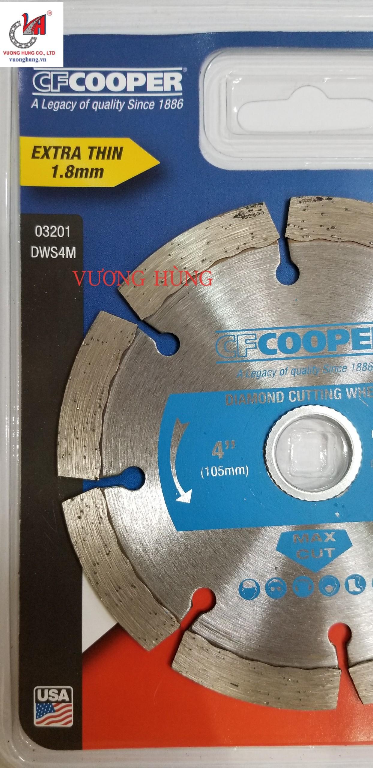 LƯỠI CẮT KIM CƯƠNG KHÔ 105X1.8X20mm COOPER ( DWS4M )