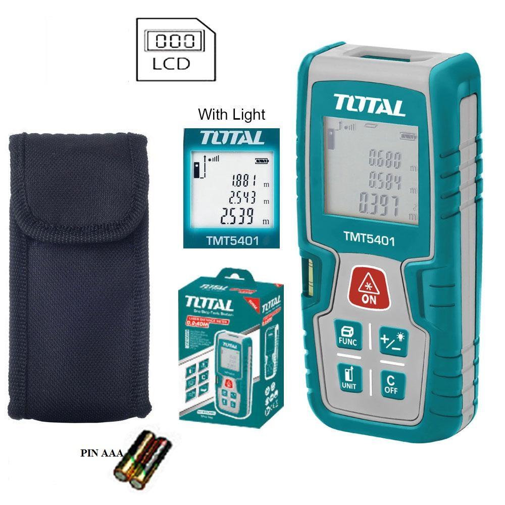 MÁY ĐO KHOẢNG CÁCH TIA LASER 0.2-40m TOTAL -TMT5401