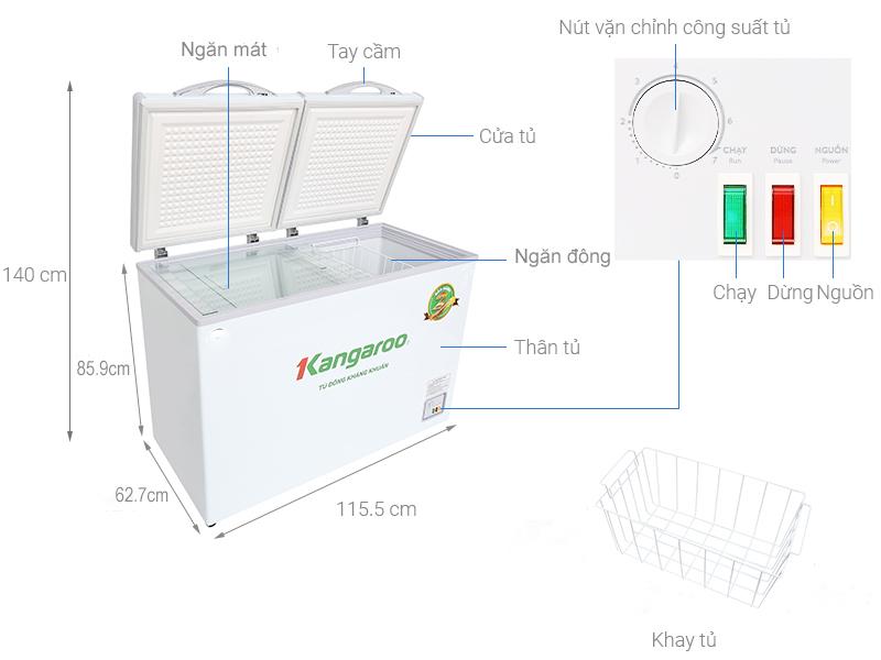 Tủ đông kháng khuẩn Kangaroo KG298C2