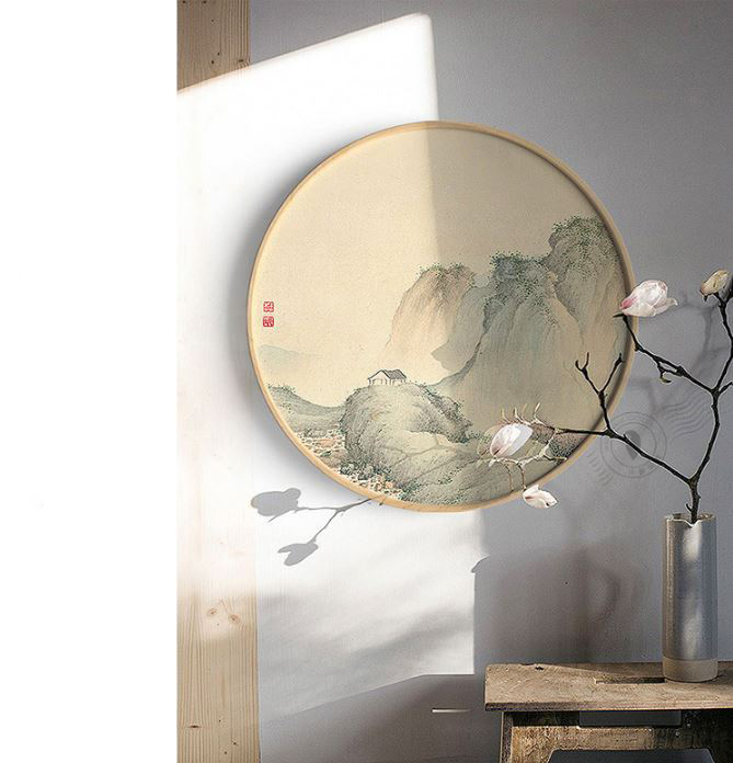 VTG004 - Vòng tròn gỗ làm khung rêu (50 cm)