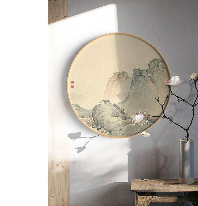 VTG005 - Vòng tròn gỗ làm khung rêu (60 cm)