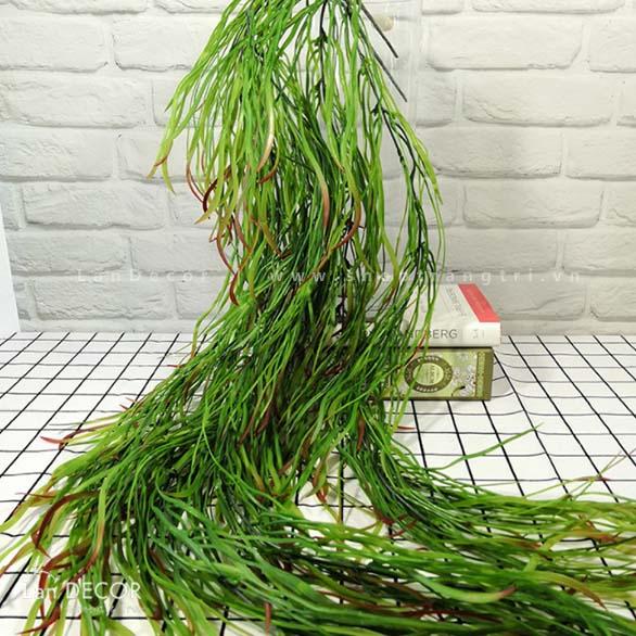 Bụi tảo rủ xanh trang trí LanDecor (110cm)- HC1049