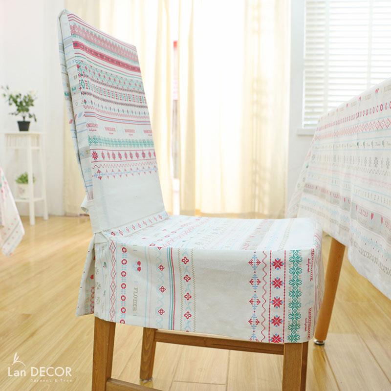 Áo ghế họa tiết handmade- AG289