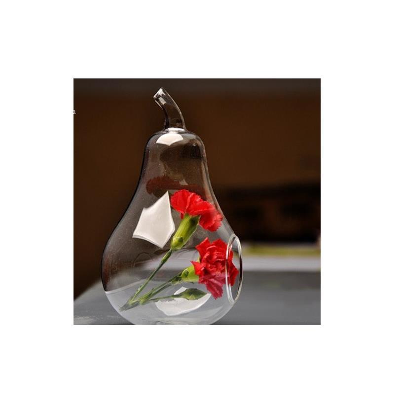 Bình thủy tinh hình quả lê (10cm) - mã TT031