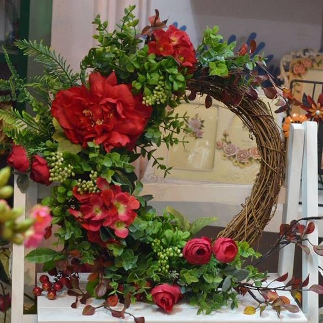 Vòng kết hoa treo cửa phòng - VH010