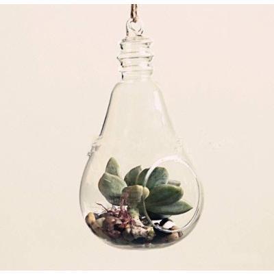 Câu thủy tinh hình bóng đèn (10cm) - mã TT033