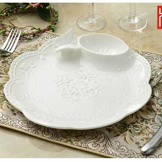 Đĩa đựng đồ ăn hình tròn - DDA001
