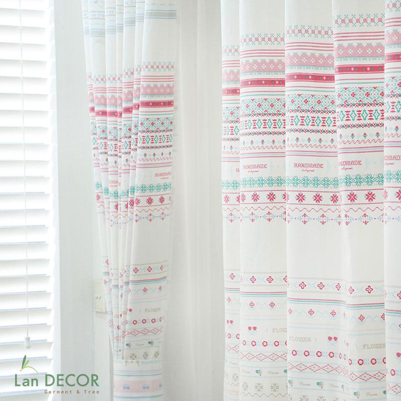 REM289 - Rèm cửa họa tiết handmade