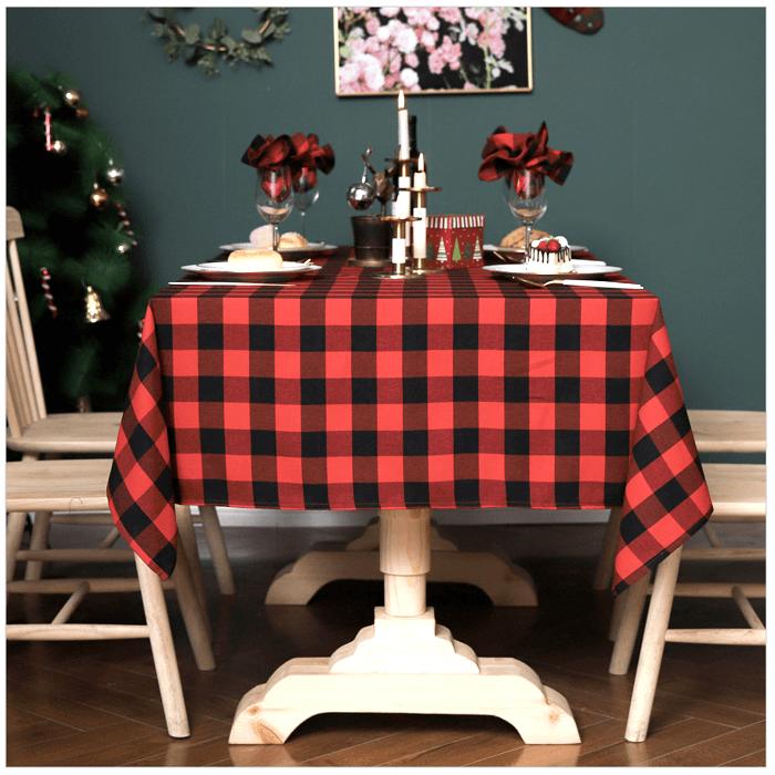 Khăn trải bàn caro đỏ đen - TB429