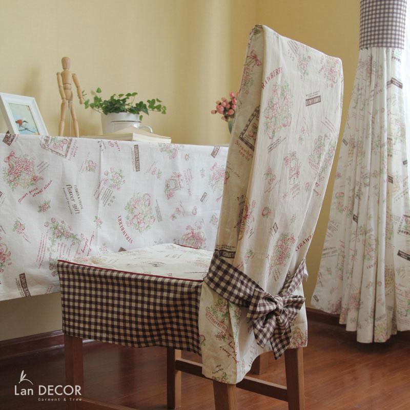 Áo ghế giỏ dâu tây- AG228