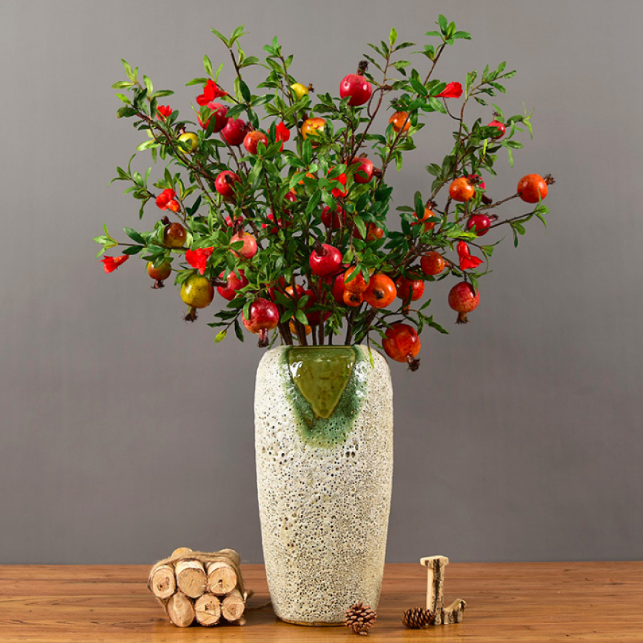 BH725 - Bình lựu hoa đỏ