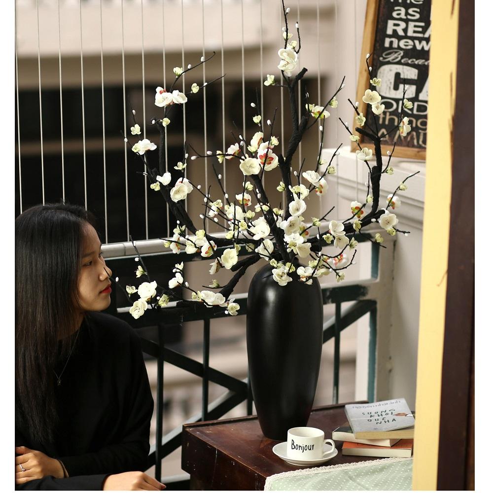 Bình hoa bạch đào cao 90cm - BH1047