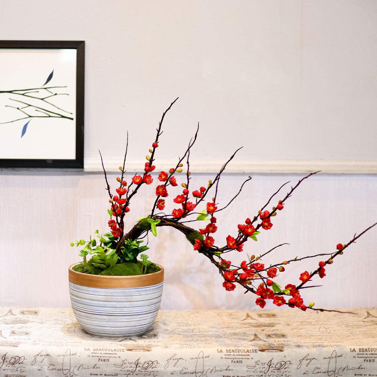 Bình hoa đào bonsai - BH784