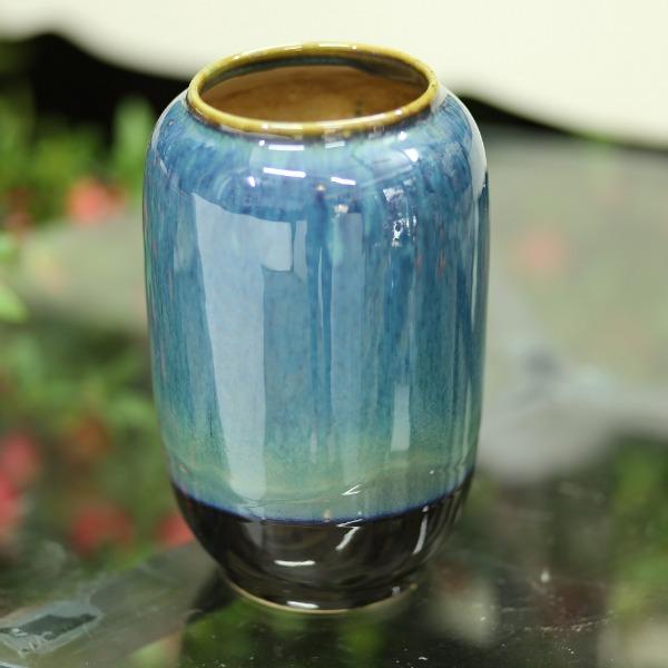 Bình gốm màu xanh  cao 22cm - BG238
